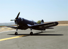Dynam F4U Corsair 50'' EPO Electric RC Airplane Warbird Installed With Motor/ESC/Serovs/Prop/Retracts