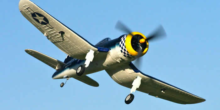 F4U Corsair Jumbo 1400mm Warbird 100% Ready-To-Fly electric RC Airplane