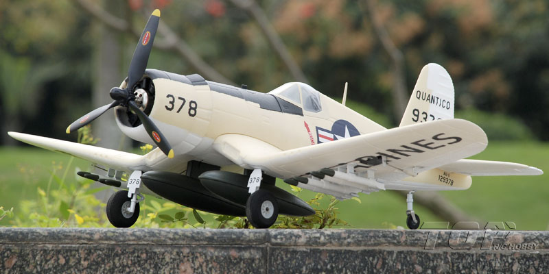 TopRC F4U Corsair Yellow 750mm/30.00in EPO Electric RC Airplane PNP