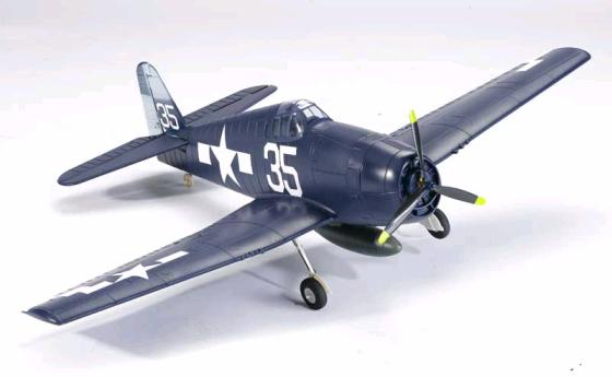 F6F Hellcat 4-Channel Ready-to-Fly Electric RC Airplane Powered by Brushless Motor/LIPO Battery
