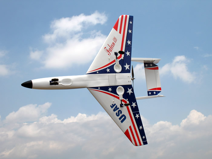 Super Falcon 120 63'' Pusher Jet ARF US Flag