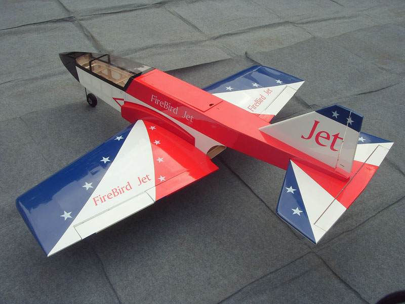 Fire Bird Jet Trainer/Jet Airplane ARF-Red & White & Blue Color (Can be Equipped with Kingtech K60)