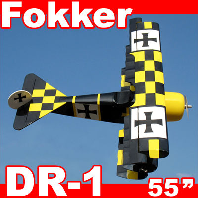 "Fokker DR-1 90 55"" Nitro Gas RC Airplane ARF"