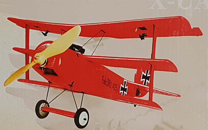 Fokker DR1 Red Baron 3D Foam RC Plane Kit New In Box