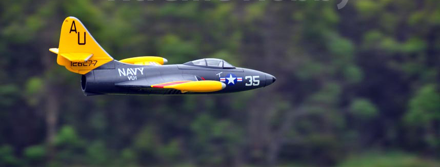 Freewing F9F Panther 64mm RC EDF Jet Ready-To-Fly - As Fast As 95MPH