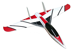 HSD Funjet 800mm Wingspan RC Plane Kit Red