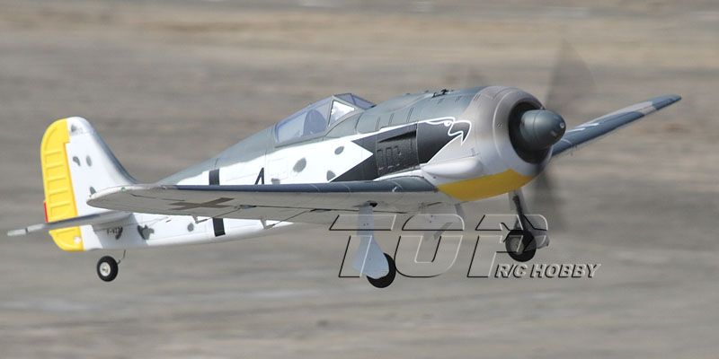TopRC FW-190 1200mm/47in EPO Electric RC Airplane Ready-To-Fly
