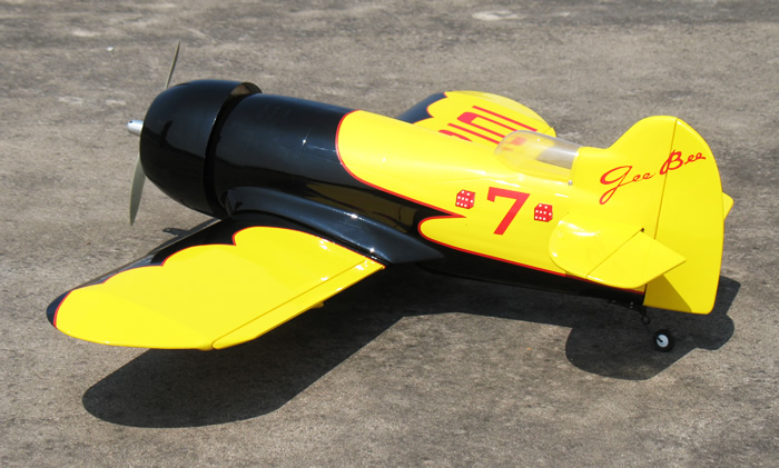 Flyfly Gee Bee 25 40.8'' Fiber Glass Electric RC Airplane Yellow ARF
