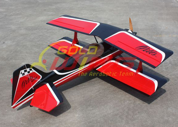 Goldwing Pitts Biplane 60''/1250mm 30CC V3 With Carbon Fiber Parts Red D