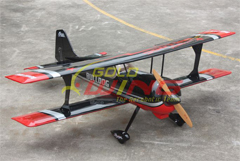 Goldwing Pitts Biplane 50CC 71''/1800mm Version 3 RC Airplane Black C