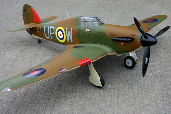 Dynam Hawker Hurricane 49''/1250mm EPO Electric RC Plane Ready-To-Fly