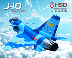 J-10 105mm Bypass EDF 1500mm Wingspan RC Jet Kit (no Retracts) Blue