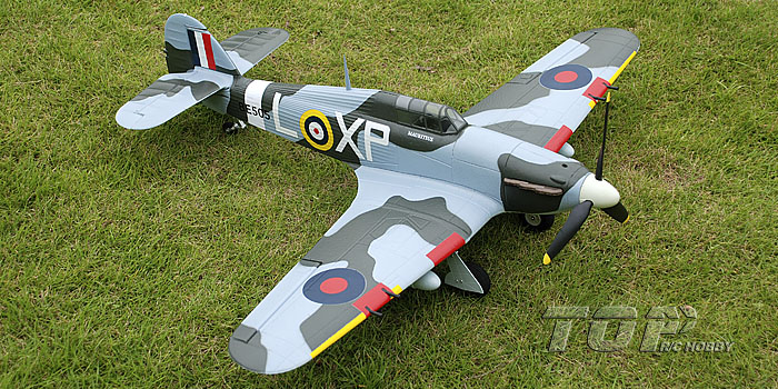 TopRC Hawker Hurricane 750mm/30'' EPO Electric RC Airplane PNP Green