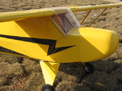 Piper Cub J-3 40 Nitro Gas RC Airplane 71.5'' ARF, missing windshield
