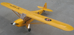 Piper J-3 Cub 60 81'' Fuel/Electric RC Airplane ARF Yellow