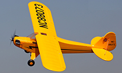 Starmax J-3 Piper Cub 1400mm/55.1in EPO RC Airplane PNP Yellow with Slightly Damaged Tail