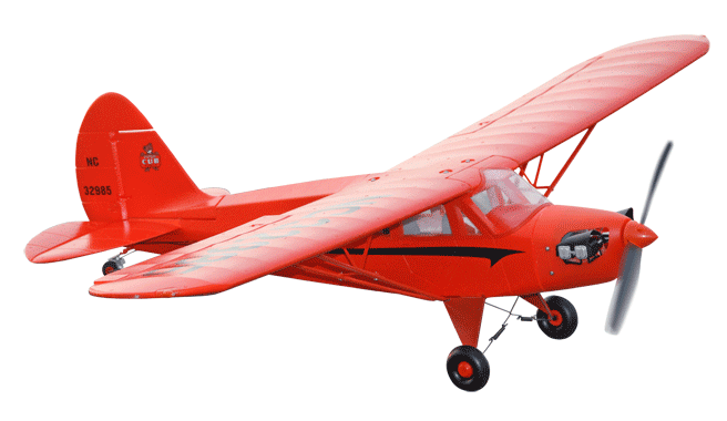 Freewing Piper J-5 Cub Cruiser 1100mm/43inch Electric RC Plane Red Kit Version