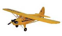 Freewing Piper J-5 Cub Cruiser 1100mm/43inch Electric RC Plane Yellow Kit Version