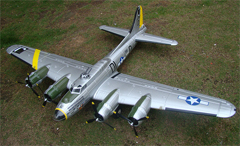 "B-17 ""Flying Fortress"" 72''/1875mm Brushless Warbird with Worm Drive Retract System PNP Silver, Returned Item"