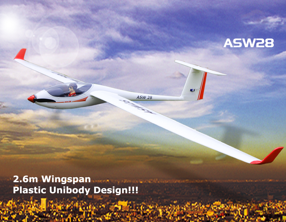 Lanyu ASW28 2.6m/103'' Unibody Scale RC Glider (759-1) Kit