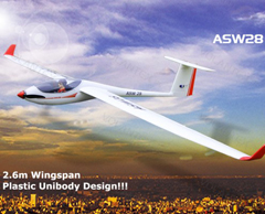 Lanyu ASW28 2.6m/103'' Unibody Scale RC Glider (759-1) PNP