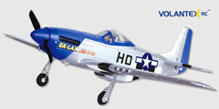 Lanyu P-51 Mustange 30'' (TW-768-1) EPO Electric RC Plane PNP, Returned Item