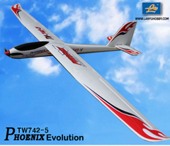 Phoenix Evolution 2600mm RC Glider Airplane Ready-To-Fly