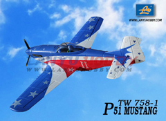 Lanyu P-51 Mustang 1400mm/55.1'' Electric RC Airplane PNP