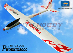 Phoenix 2000 Electric RC Glider Airplane PNP