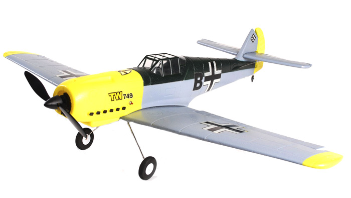 Messerschmitt ME-109 RC 4-Ch Electric Ready to Fly RTF Airplane (Gray Version)