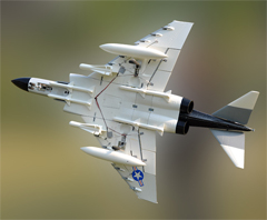 LX F4 Phantom Twin 70mm EDF RC Jet Grey With Retracts and Electric Brake, High Speed Up To 160kph