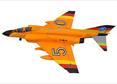 LX F4 Phantom Twin 70mm EDF RC Jet PNP Yellow With Retracts and Electric Brake, High Speed Up To 160kph