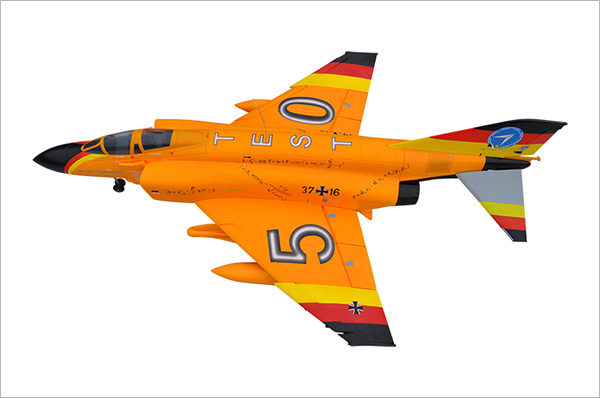 LX F4 Phantom Twin 70mm EDF RC Jet Yellow With Retracts and Electric Brake Kit Version, High Speed Up To 160kph