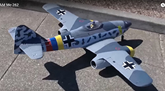 Dynam Messerschmitt ME-262 1500mm Twin 70mm EDF Jet Ready-To-Fly