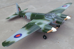 de Havilland Mosquito Twin Engine 73'' ARF RC Airplane, Missing Engine Cover