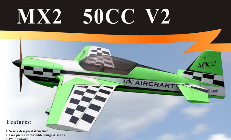 Goldwing ARF-Brand MX-2 50CC V2 88'' A Carbon RC Airplane