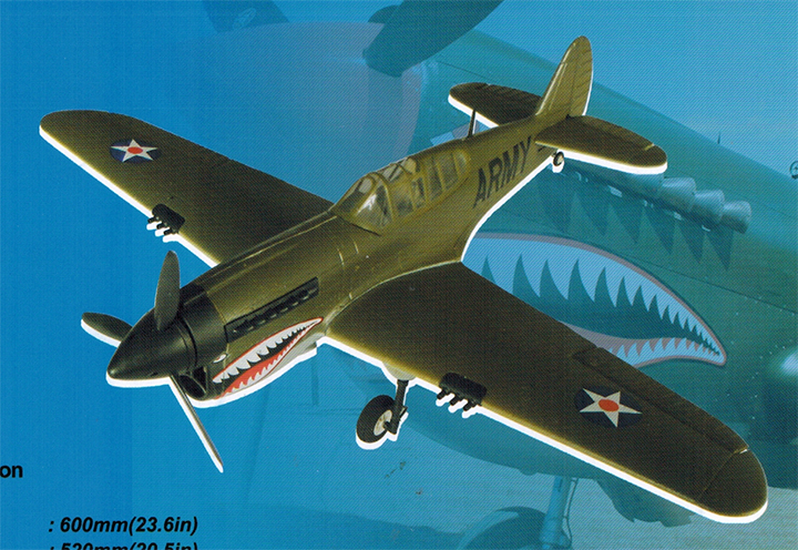 P-40 Electric RC Plane Kit