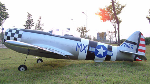 P-47 Thunderbolt 120 70'',  with Misaligned Tail