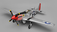 P-51 Mustang 1450mm Warbird Electric RC Airplane Plane Radio Controlled PNP Installed With Motor/ESC/Servos/Propeller/Retracts