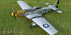 Toprc P-51D Mustang Yellow 750mm/30.00in EPO Electric RC Airplane Ready-To-Fly