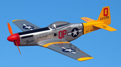 P-51D Mustang Electric 33.5'' RC Airplane ARF