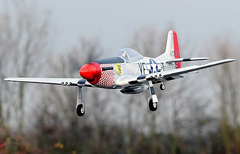 Large P-51 Mustang 1400mm/55.1'' Electric RC Airplane 100% Reday-To-Fly