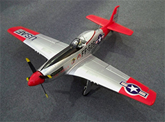 Unique Models P-51 Mustang 1200mm Electric RC Plane PNP Red