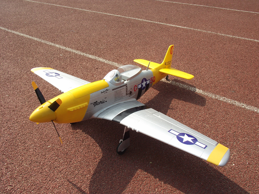 Unique Models P-51 Mustang 1200mm Electric RC Plane PNP Yellow