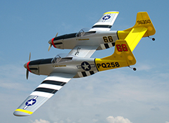 "P-82 Twin Mustang 40 - 70.5"" Nitro Gas RC Plane"
