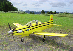 Unique Models Pilatus PC-9 1200mm PNP Yellow