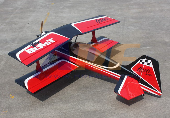 Goldwing ARF Pitts 30CC 60''/1530mm RC Plane Red A