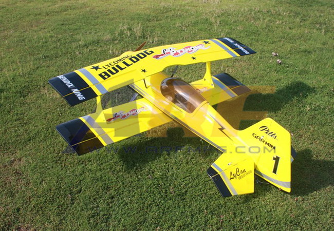 Goldwing ARF-Brand Pitts 30CC 60''/1530mm Version 2 RC Plane Yellow B