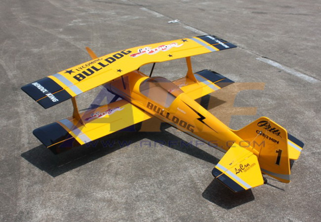 Goldwing ARF Pitts Python 50CC 71''/1800mm RC Plane Yellow B