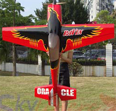 Skyline Raven 30CC 74'' 3D Aerobatic RC Airplane ARF Pre-hinged Carbon Fiber Version